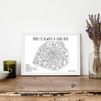 Personalised Paris Pin Board Map With Pins