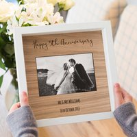 Personalised 5th Anniversary Engraved Photo Frame Gift