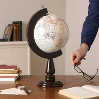 Large Cream And Gold Desk Globe