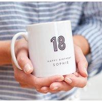 18 Birthday Mug With Personalised Name