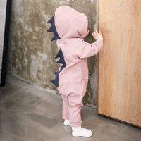 Dino Jumpsuit, Grey/Pink