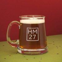Crystal Monogram + Age Beer Tankard