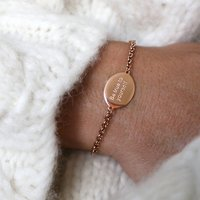 Be True To Yourself Engraved Disc Bracelet