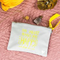 Do What Makes You Happy Make Up Bag