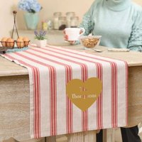 Country Stripe Personalised Table Runner