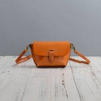 Strap Detail Cross Body Leather Bag