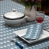 Isabella Blue Organic Cotton Napkins, Blue