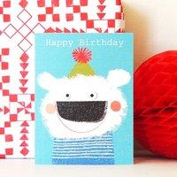 Happy Birthday Fluffus Polar Bear Mini Card