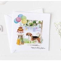 Beagle Dog Birthday Card, Pet Card ..7v20a