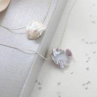 Keimau Single Keshi Pearl Necklace, Silver