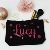 Personalised Flowers Make Up Purse
