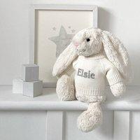 Personalised Cream Bashful Bunny Soft Toy