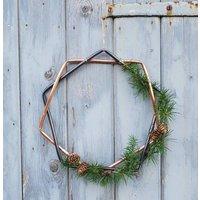 Geometric Copper Alternative Wreath