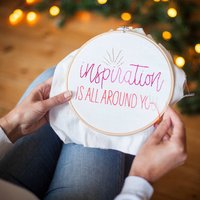 Inspiration Embroidery Hoop Kit
