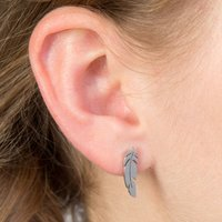 Feather Stainless Steel Earrings