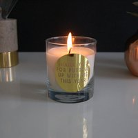 Personalised Thank You Gold Candle Teacher Gift