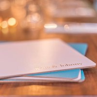 Set Of Personalised Leather Placemats, Teal/Gold/Silver