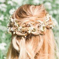 Flora Pearl And Crystal Hair Vine