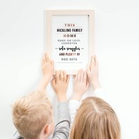 Personalised Foiled A4 Print; Gift For Mum