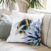 Inky Bumblebee Large Luxury Cushion And Inner