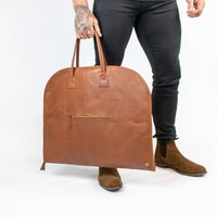 Classic Leather Garment Suit Carrier