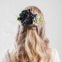 Paisley Flower Hair Comb