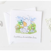New Baby Card For Rainbow Baby, Christening Card .4v12a