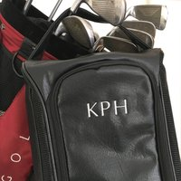 Bespoke Sports Shoe Bag, Black/Navy Blue/Navy