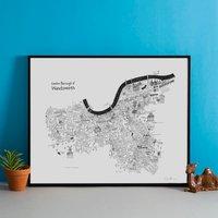 Wandsworth Hand Drawn London Map Print
