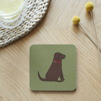 Chocolate Labrador Coaster