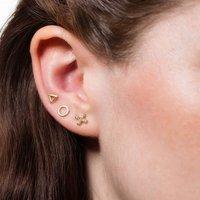 Set Of Three Geometric Earrings