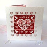 Heart Laser Cut Card
