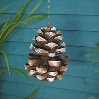 Cast Iron Effect Pinecone Bird Feeder
