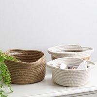 Round Cotton Storage Baskets Set