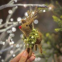 Personalised Felt Reindeer Christmas Decoration