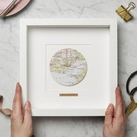 Personalised Circle Vintage Map Picture