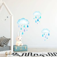 Rainy Days Fabric Wall Stickers