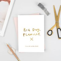 Big Day Wedding Personalised Foil Notebook