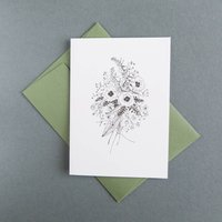 Wildflower Study Risograph Greetings Card