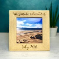 Personalised Square Solid Oak Photo Frame