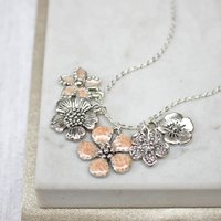 Flower Necklace, Gold/Silver