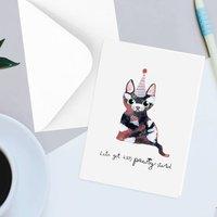 Cute Cat Pun Party Greetings Card