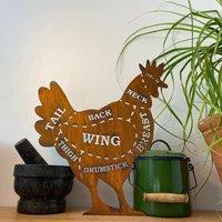 Rusty Chicken / Butchers Sign / Kitchen Plaque