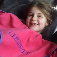 Personalised Childs Blanket, Grey/Red/Navy