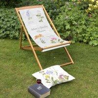 Mums Garden Flowers Personalised Deckchair