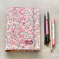 Liberty Prints Personalised Refillable Leather Journal