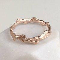 Cypress Leaf Band Ring