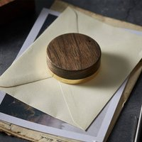 Luxury Brass And Walnut Paperweight