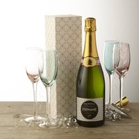 New Baby Personalised Champagne