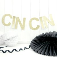 Personalised New Years Eve Glitter Garland Decoration